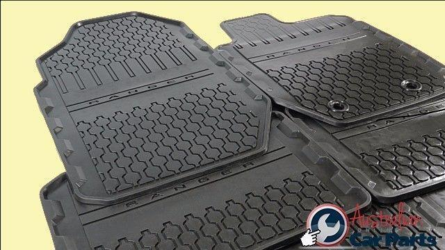 Floor Mats Rubber Front Amp Rear Set Suitable For Ford Ranger 2011 2016 Double Cab New Genuine