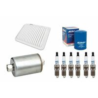 SERVICE KIT OIL AIR FUEL FILTERS & SPARK PLUG ACDelco suitable for Ford Falcon 4.0l Barra BF 2005-07