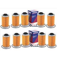 Oil Filters x 10 ACDelco suitable for HOLDEN VZ VE VF V6 Commodore 3.6 3.0 2004-14