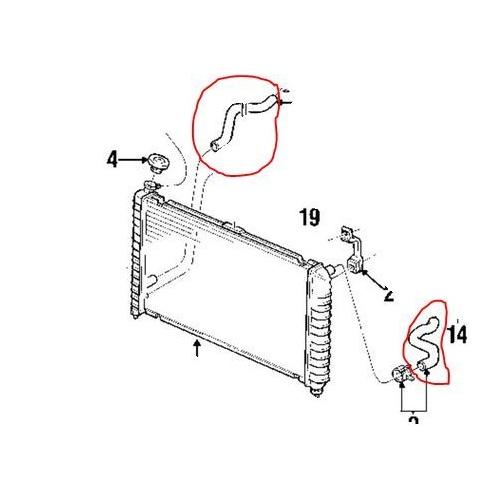 radiator hose kit suitable for holden commodore vy v8 5 7l ls1 genuine top bottom hose 02