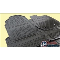 Floor Mats Rubber Front & Rear set suitable for Ford Ranger 2011-2016 Double Cab New Genuine