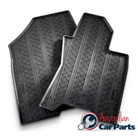 Rubber Mats suitable for Nissan Navara D23 Auto Front 2015-2016 DC KC Genuine New