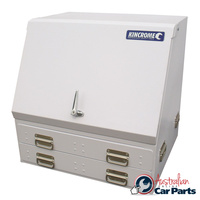 KINCROME Upright Truck Box 2 driveawer White 51202W NEW