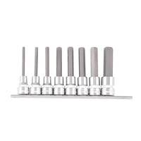 Kincrome HEX BIT SET 8 PIECE ON CLIP RAIL K2137
