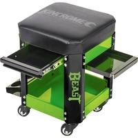 Kincrome Workshop Creeper Seat 2 Drawer Beast Green K8114GB