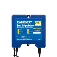 Kincrome Smart 6-Stage Battery Charger & Maintainer RV & MARINE 12 Volt 10 AMP KP87004