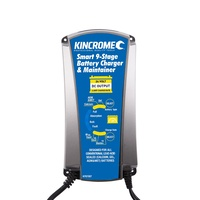 KINCROME Battery Trickle Charger & Maintainer 24 Volt 6 AMP For Car Motorcycles Boat KP87007