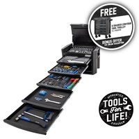 "KINCROME CONTOUR® Tool Chest 246 Piece 6 Drawer 1/4, 3/8 & 1/2"" Drive - Black Series P1800MB"