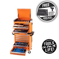 "Kincrome Tool Workshop 242 Piece 15 Drawer 1/4, 3/8 & 1/2"" Drive CONTOUR® P1805O"