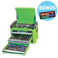 "CONTOUR® TOOL CHEST KIT 207 PIECE 8 DRAWER 1/4, 3/8 & 1/2"" DRIVE WITH BONUS P1909GB"