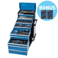 "Kincrome Tool Workshop 185 Piece 11 Drawer 1/4, 3/8 & 1/2"" Drive BONUS EVOLUTION Singleway Gear Spanners 8 Peice Metric & Imperial P1925B"