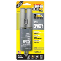 Original Superglue Metal Epoxy  Industrial Strength - Fast Setting - 4-6 Minutes 1oz Card