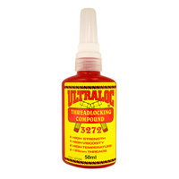 Ultraloc Threadlocking Compound Red - Anaerobic High Strength - High Temp - High Viscosity 50ml