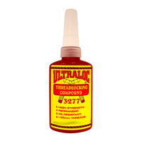 Ultraloc Threadlocking Compound Red - Anaerobic High Strength Permanent Grade - High Viscosity - Oil Resistant 10ml