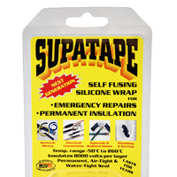 Supatape Black forms a non-conductive, air & water tight insulating seal. 3.8cm x 11m