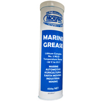 Molytec Marine Grease #2 NLGI Lithium Complex Grease, Superior Water Resistance 450g Cartridge
