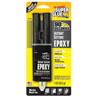 Original Superglue Instant Epoxy Convenient - Permanently Bonds in 90 Seconds 1oz Card