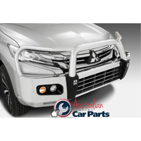 Alloy Protection Bull Bar (POLISHED) suitable for Mitsubishi Pajero Sport QE 2016-2020 Genuine
