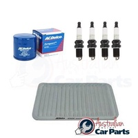 OIL AIR FILTER SPARK PLUGS SERVICE KIT ACDelco suitable for Mazda 2 DY 1.5l 2002-2007
