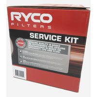 Oil Air Fuel Ryco Filter service Kit for Holden Commodore VT VX VY 3.6L V6 1997-2004