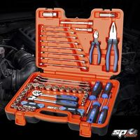 "SP Tools 65Piece 3/8""drive Toolkit 12 Point metric/sae in x-case     SP51204"