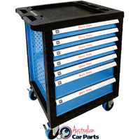 7 Drawer Rollaway Tool Cabinet T&E Tools 3070RC