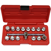 15Pc. Oil Drain Plug  Socket  Set T&E Tools 5711