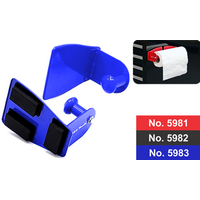 Magnetic Paper Towel Holder Blue for Toolboxes T&E Tools 5983