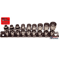 "SAE Universal Socket 9Piece set 1/4"" drive 12 Point T&E Tools 92809 NEW Imperial"