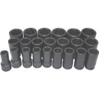 "Metric Deep Impact Sockets 22 Piece Set 1"" Drive T&E Tools 98622L New reduced price"