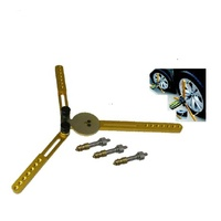 T&E Tools Triangle Base Wheel Alignment Tool & Caster / Camber / King Pin Gauge kit A2176+A2177