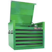 "Top Tool Chest 27"" Godfather Series 5 Drawer Tool Box Green T&E Tools TE-GF2705GR"