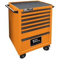 "Roller Tool Cabinet 27"" Godfather 7 Drawer Tool Box Orange T&E Tools TE-GF2707OR"