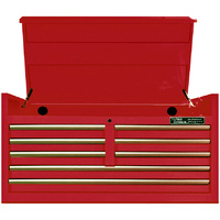 "Tool Chest 47"" Godfather 8 Drawer Top Tool Box Red T&E Tools TE-GF4708RD"