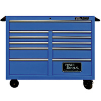"Roller Tool Cabinet 47"" Godfather 11 Drawer Toolbox Blue T&E Tools TE-GF4711BU"