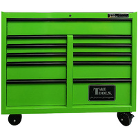 "Roller Tool Cabinet 47"" Godfather 11 Drawer Toolbox Green T&E Tools TE-GF4711GR"