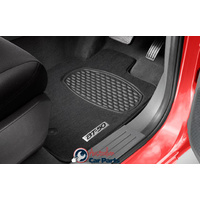 Front Rear Carpet Mats suitable for Mazda BT50 2016- MY16 Genuine Dual Cab set of 4 Vinyl floors