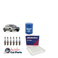 Service Filter Kit suitable for Mitsubishi 380 Oil & Air Filters Spark plugs Genuine Acdelco
